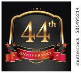 44 years golden anniversary... | Shutterstock .eps vector #531495214