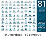 mega set and big group  real... | Shutterstock .eps vector #531495979