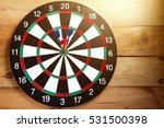 dart arrow hitting in the... | Shutterstock . vector #531500398