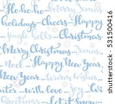 seamless pattern of christmas... | Shutterstock .eps vector #531500416