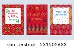 vector illustration of knitted... | Shutterstock .eps vector #531502633