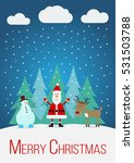 christmas card with santa claus ... | Shutterstock .eps vector #531503788