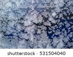 frost patterns on glass | Shutterstock . vector #531504040