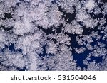 frost patterns on glass | Shutterstock . vector #531504046