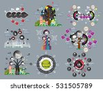 big set of vector of infographic | Shutterstock .eps vector #531505789