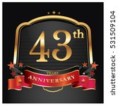 43 years golden anniversary... | Shutterstock .eps vector #531509104