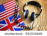 language course headphone and... | Shutterstock . vector #531510640