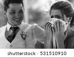 bride cries in napkin while... | Shutterstock . vector #531510910