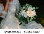 lush wedding bouquet | Shutterstock . vector #531514300