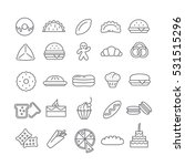 icons pastry dishes   Shutterstock .eps vector #531515296