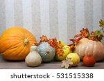 Harvest Pumpkin On The Floor...