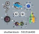 big set of modern infographic... | Shutterstock .eps vector #531516400