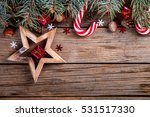 christmas vintage background... | Shutterstock . vector #531517330