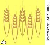 bread  ear  vector illustration ... | Shutterstock .eps vector #531521884