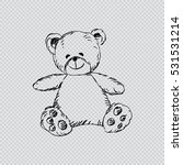 teddy bear with tie. sketchy...   Shutterstock .eps vector #531531214
