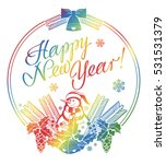 holiday label with funny... | Shutterstock . vector #531531379