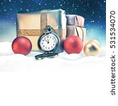 christmas background with space ... | Shutterstock . vector #531534070