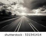 car highway at sunset and... | Shutterstock . vector #531541414