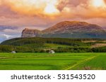 beautiful norwegian mountain... | Shutterstock . vector #531543520