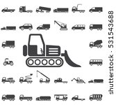 loader icon. transport icons... | Shutterstock .eps vector #531543688