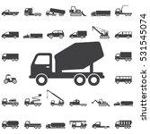 Concrete Mixer Icon. Transport...