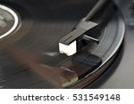 vinyl record being played | Shutterstock . vector #531549148