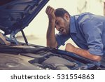 young stressed man having... | Shutterstock . vector #531554863