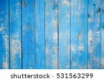 Old Blue Painted Wood Wall....