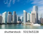 view of miami downtown skyline... | Shutterstock . vector #531565228