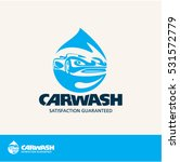 car wash vector logo | Shutterstock .eps vector #531572779