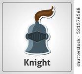 flat image of knight's helmet...   Shutterstock .eps vector #531576568