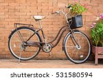 Flower In Basket Of Old Bicycl...