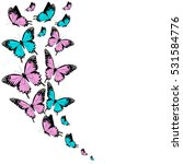 Stock vector color butterflies isolated on a white 531584776