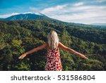 young blonde caucasian woman... | Shutterstock . vector #531586804