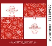 vector set. christmas and new... | Shutterstock .eps vector #531589810