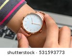Wrist Watch On Girl\'s Hand In...