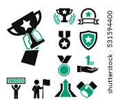 win  success  honor icon set | Shutterstock .eps vector #531594400