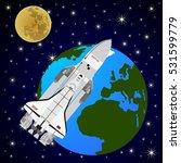 space shuttle orbiting the...   Shutterstock .eps vector #531599779