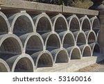 decorative arched concrete... | Shutterstock . vector #53160016