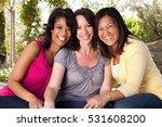 diverse group of friends... | Shutterstock . vector #531608200