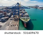 container ship in export and... | Shutterstock . vector #531609670
