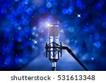 condenser microphone with blue... | Shutterstock . vector #531613348