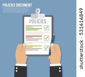 policies document | Shutterstock .eps vector #531616849