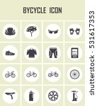 vector bicycle icon set. mono... | Shutterstock .eps vector #531617353