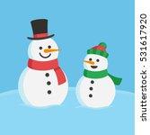 snowman family christmas... | Shutterstock .eps vector #531617920