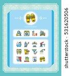 icon set sanitary vector | Shutterstock .eps vector #531620506