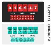 countdown clock digits board... | Shutterstock . vector #531623458