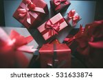 gifts for christmas. stylish... | Shutterstock . vector #531633874