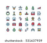 christmas and new year filled... | Shutterstock .eps vector #531637939