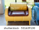 Sofa Recycled From Old Yellow...